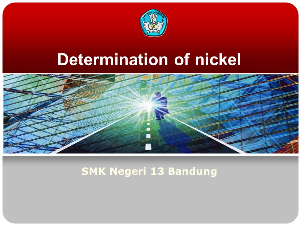 Determination of nickel SMK Negeri 13 Bandung