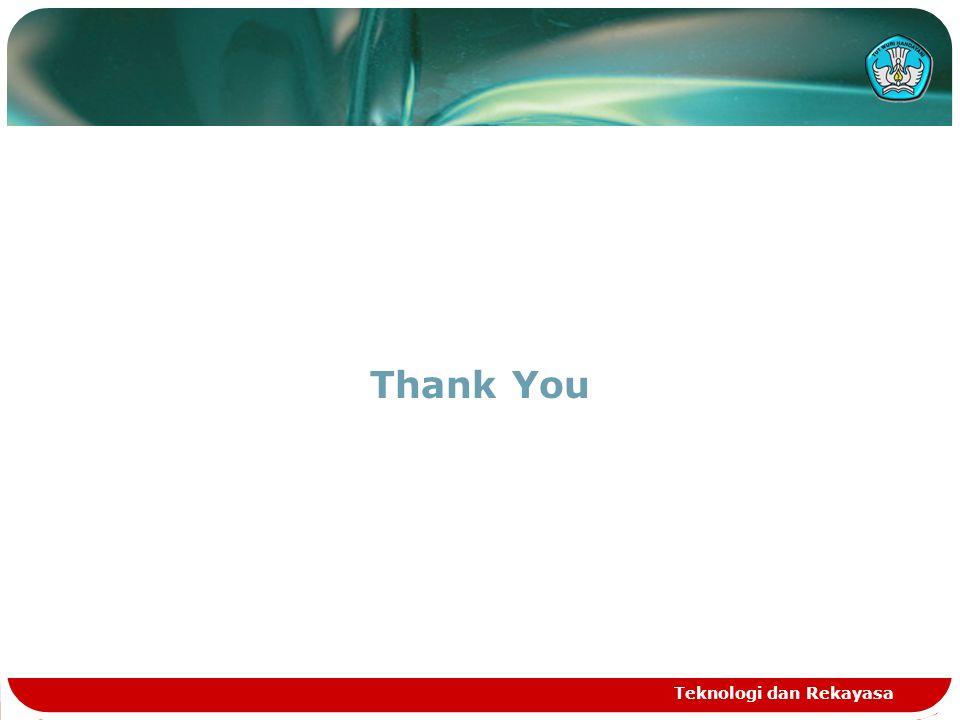 Thank You Teknologi dan Rekayasa