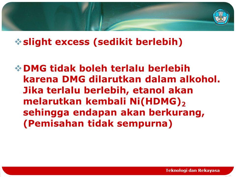  DMG tidak boleh terlalu berlebih karena DMG dilarutkan dalam alkohol.