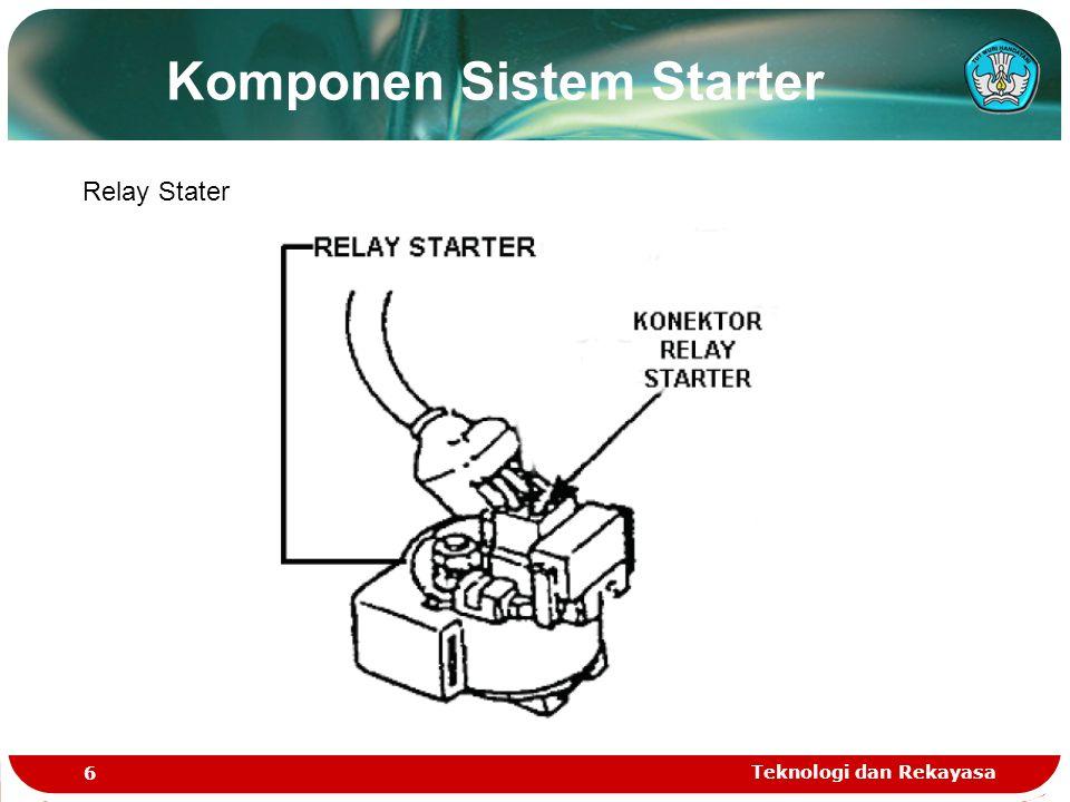 Teknologi dan Rekayasa 7 Motor Stater Komponen Sistem Starter