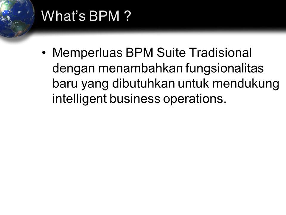 Memperluas BPM Suite Tradisional dengan menambahkan fungsionalitas baru yang dibutuhkan untuk mendukung intelligent business operations.