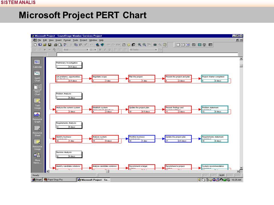SISTEM ANALIS Microsoft Project PERT Chart