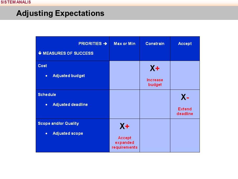 SISTEM ANALIS Adjusting Expectations