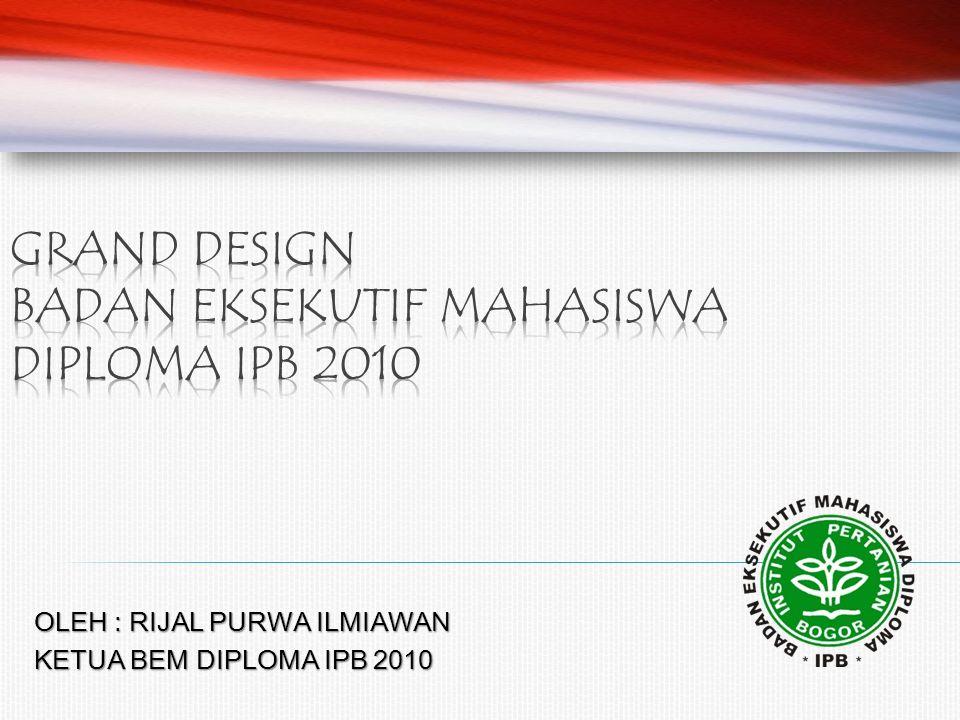 OLEH : RIJAL PURWA ILMIAWAN KETUA BEM DIPLOMA IPB 2010