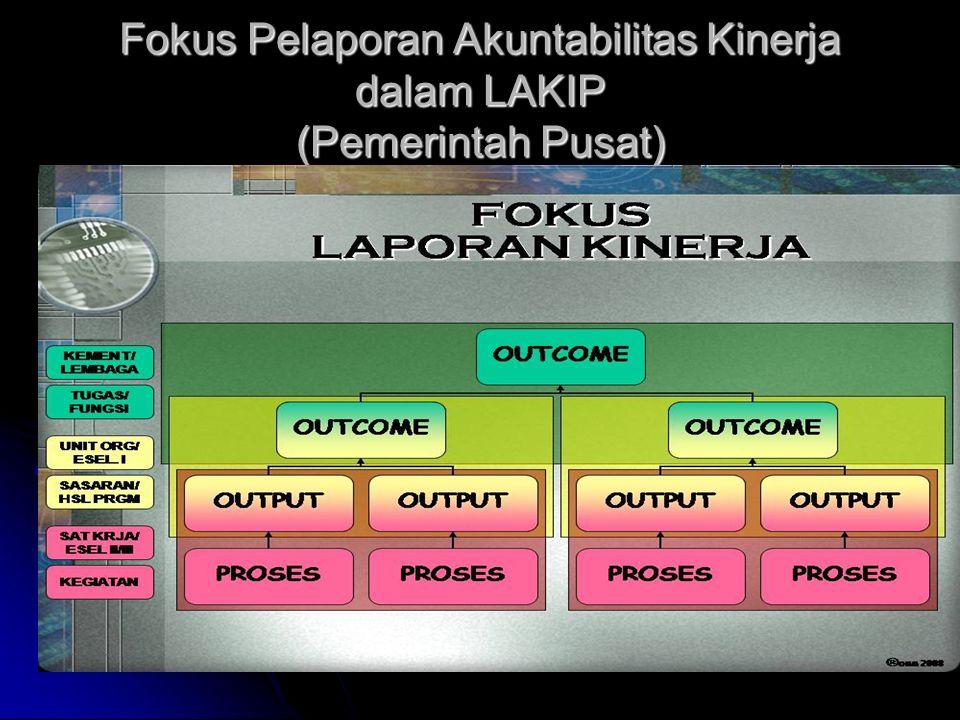 Fokus Pelaporan Akuntabilitas Kinerja dalam LAKIP (Pemerintah Pusat)