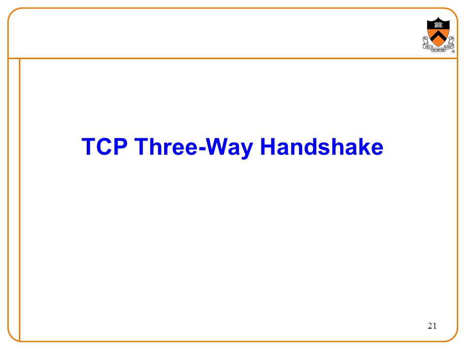 21 TCP Three-Way Handshake