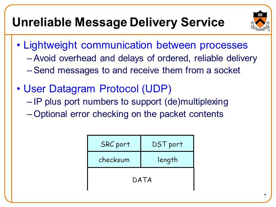 8 Why Would Anyone Use UDP.
