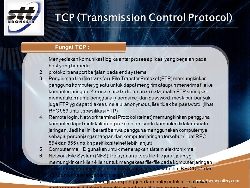 LOGO Aplikasi pengguna TCP : 1.