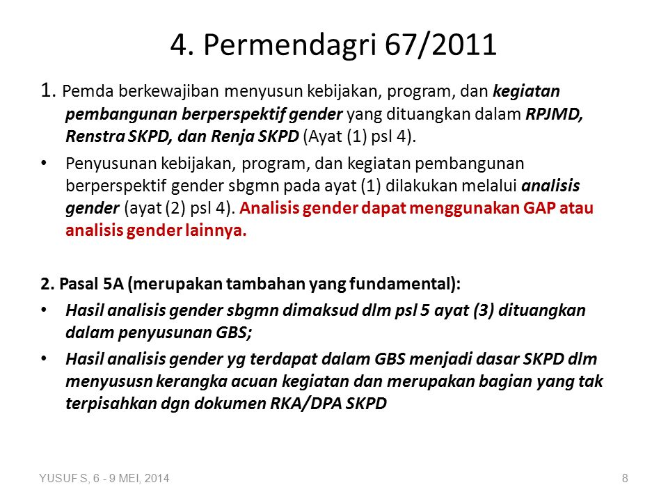 Permendagri 67/2011 Lanjutan...3.