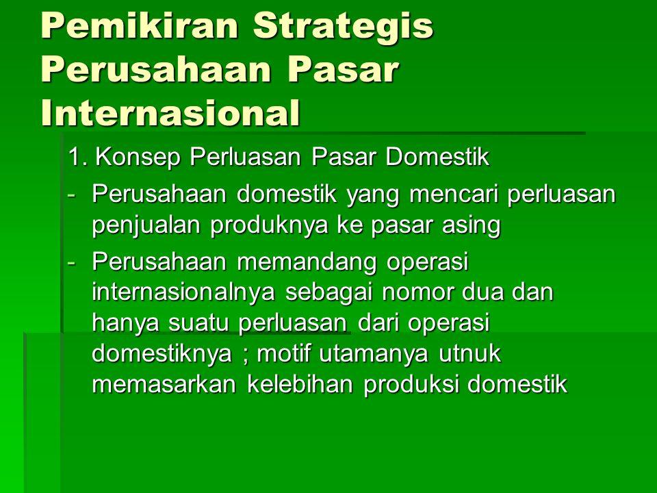 Pemikiran Strategis Perusahaan Pasar Internasional 1.