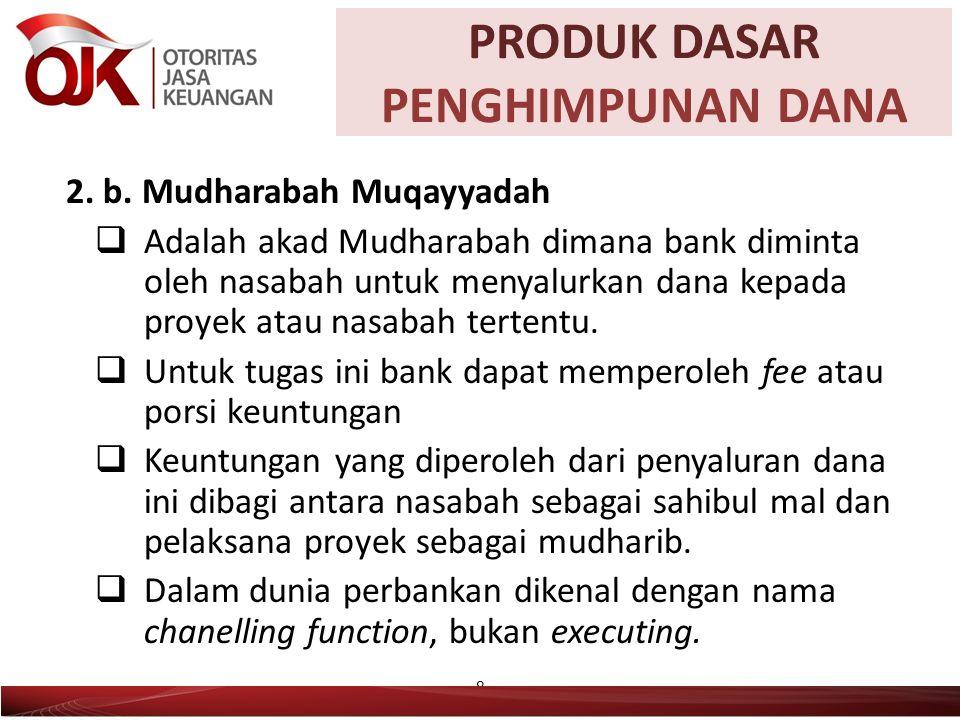 PRODUKNASABAHBANK WadiahPemilik titipanPenerima Titipan Mudharabah (Muthlaqah) Pemilik Modal/ Dana (Sahibul Mal) Pengelola Dana/ Mudharib Mudharabah (Muqayyadah) Pemilik Modal/ Dana (Sahibul Mal) Mudharib/Wakil 9 Posisi Bank dan Nasabah dalam Penghimpunan Dana PRODUK DASAR PENGHIMPUNAN DANA