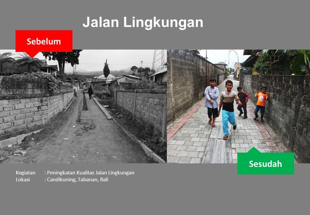 Sesudah Sebelum Kegiatan: Peningkatan Kualitas Jalan Lingkungan Lokasi: Candikuning, Tabanan, Bali Jalan Lingkungan