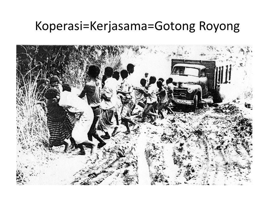 Koperasi=Kerjasama=Gotong Royong
