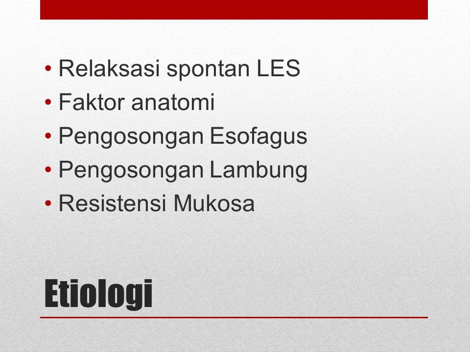 Komplikasi GERD Stricture Inflamasi (esophagitis) dapat berkembang jadi ulcer → pembentukan jaringan parut (fibrosis) → dapat mempersempit rongga esofagus → makanan tersangkut Barrett s esophagus GERD lama/parah → perubahan sel yang melapisi esofagus.