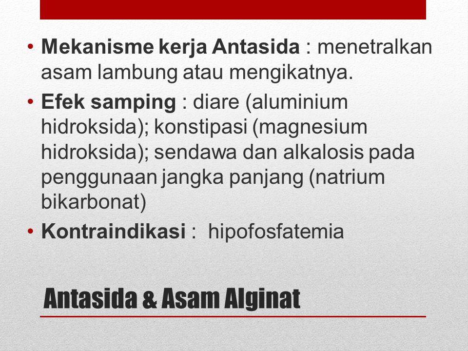 Proglumide ACh PGE 2 Histamine Gastrin Adenyl cyclase _ + ATPcAMP Protein Kinase (Activated) Ca ++ + Proton pump K K+K+ H+H+ Gastric acid Parietal cell Lumen of stomach Antacid Omeprazole Ranitidine H2H2 M3M3 Misoprostol _ _ _ _ + PGE receptor + + Gastrin receptor + + +