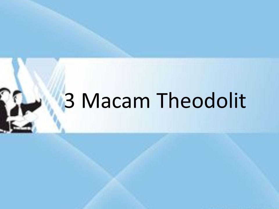 3 Macam Theodolit