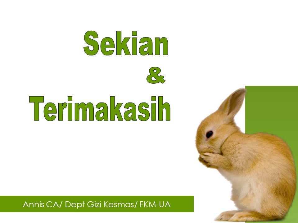 Annis CA/ Dept Gizi Kesmas/ FKM-UA
