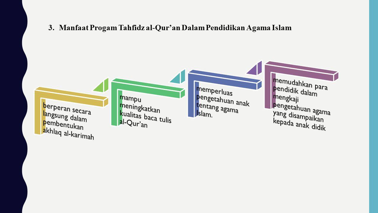 3.Manfaat Progam Tahfidz al-Qur'an Dalam Pendidikan Agama Islam