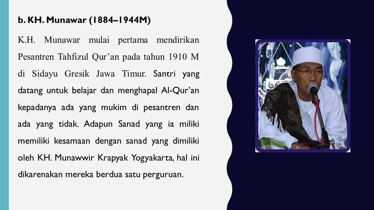 c.KH. Said Ismail (1891 – 1954 M) KH.