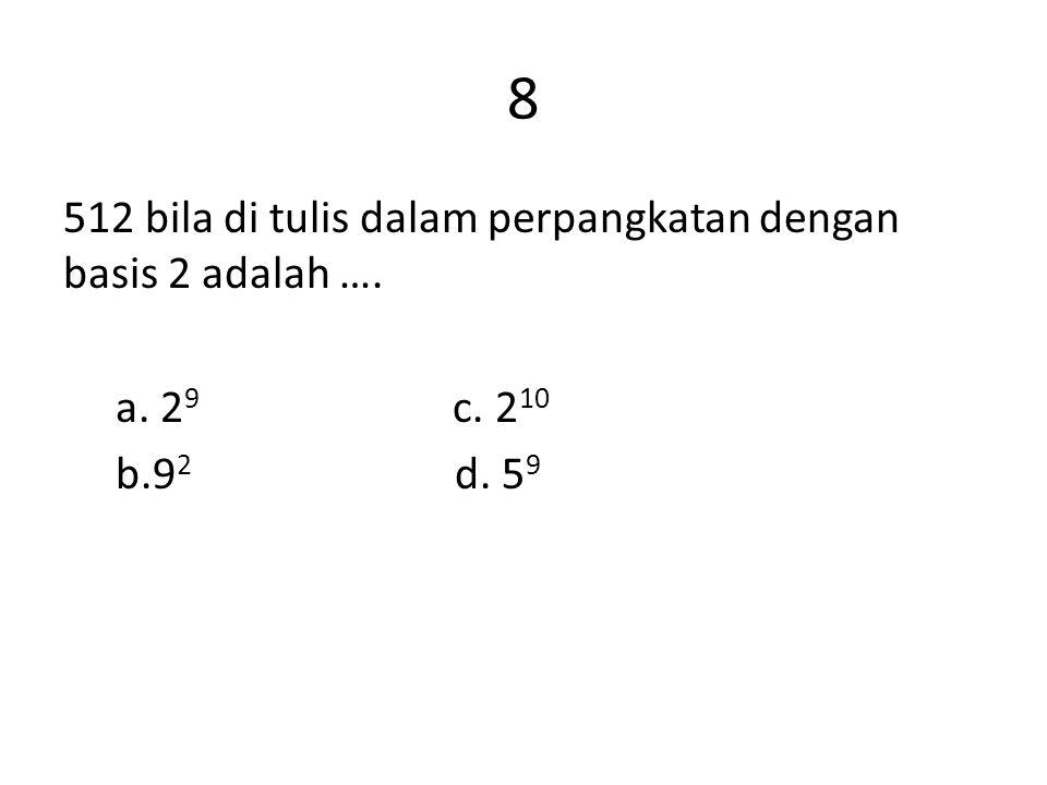 9 44 bila dinyatakan dalam bentuk yang memuat pangkat adalah ….