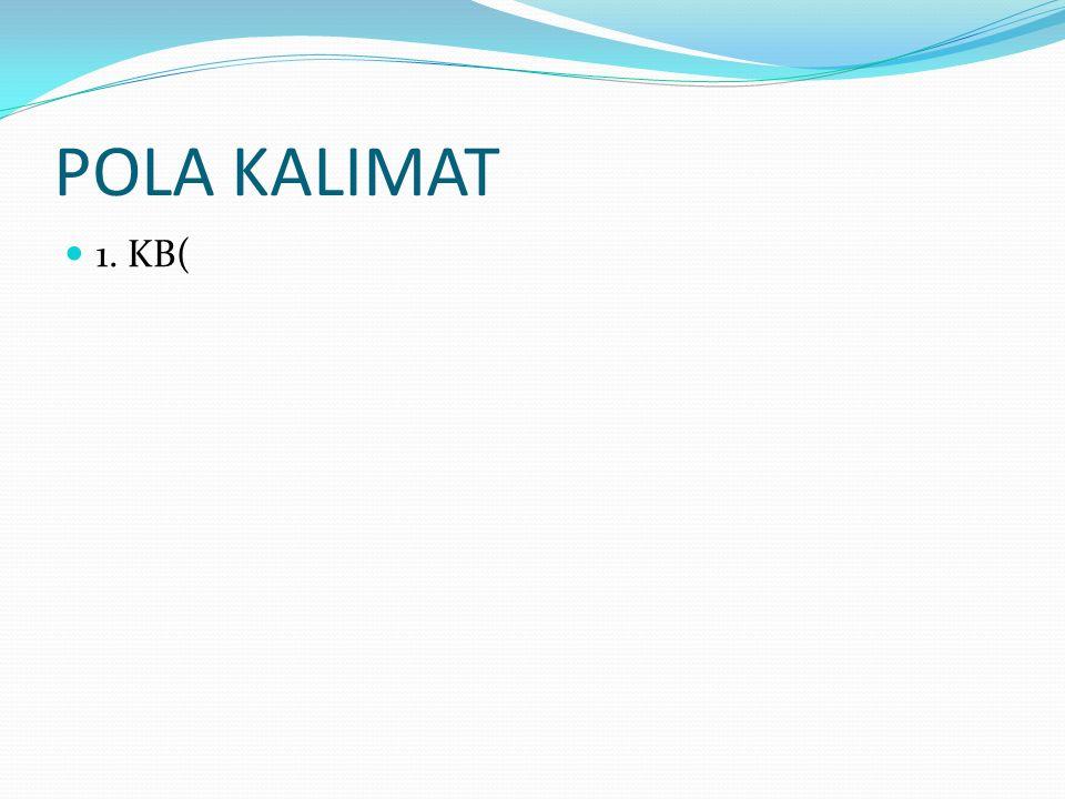 POLA KALIMAT 1. KB(