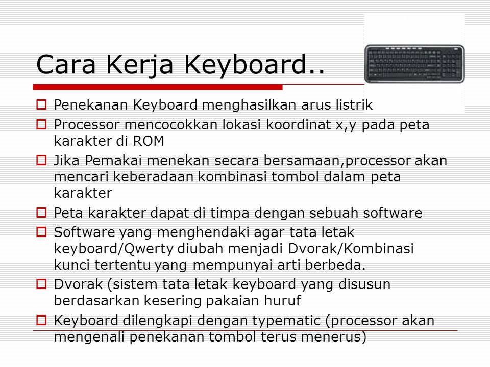 Cara Kerja Keyboard..