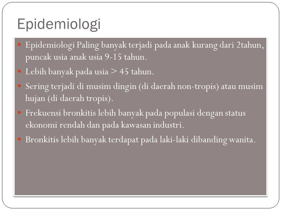 Epidemiologi Epidemiologi Paling banyak terjadi pada anak kurang dari 2tahun, puncak usia anak usia 9-15 tahun. Lebih banyak pada usia > 45 tahun. Ser