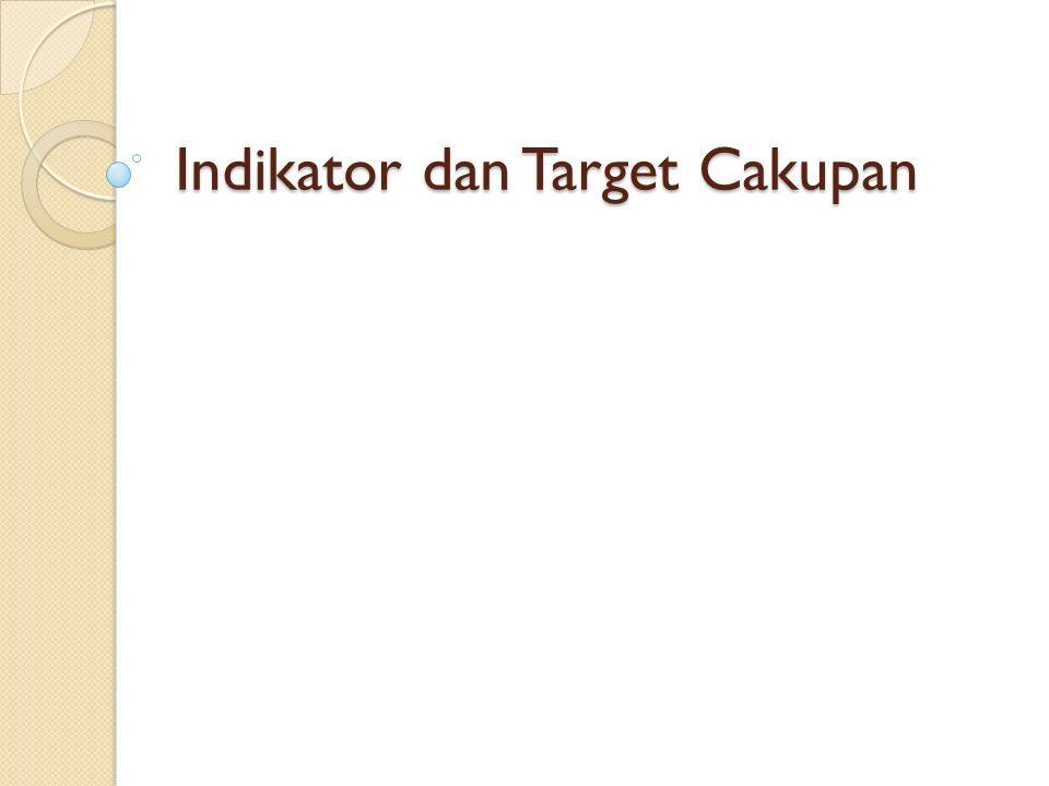 Indikator dan Target Cakupan
