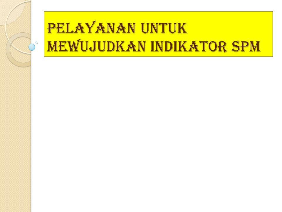 Pelayanan untuk mewujudkan indikator SPM