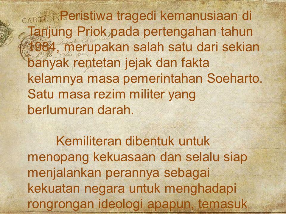 Pemicu Konflik Tanjung Priok