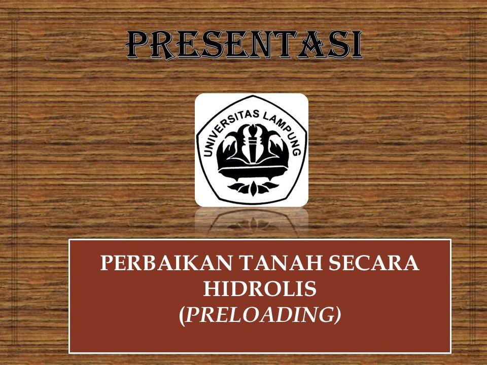 PERBAIKAN TANAH SECARA HIDROLIS ( PRELOADING) PERBAIKAN TANAH SECARA HIDROLIS ( PRELOADING)