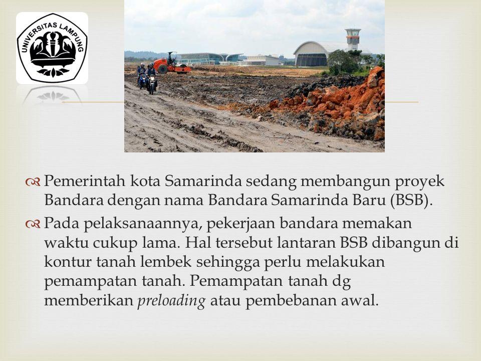   Pemerintah kota Samarinda sedang membangun proyek Bandara dengan nama Bandara Samarinda Baru (BSB).