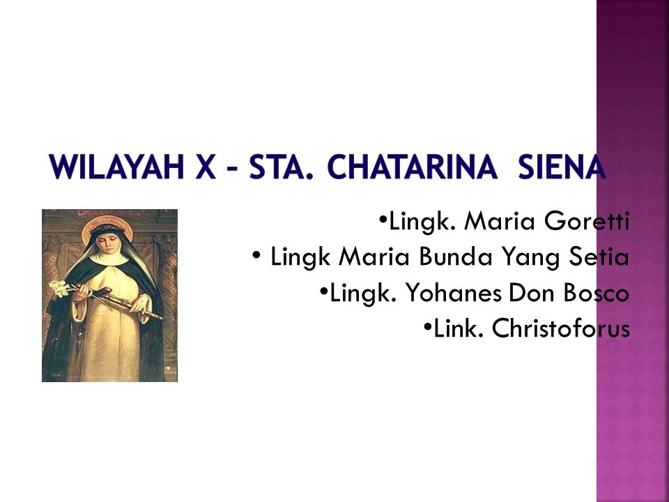Lingk. Maria Goretti Lingk Maria Bunda Yang Setia Lingk. Yohanes Don Bosco Link. Christoforus