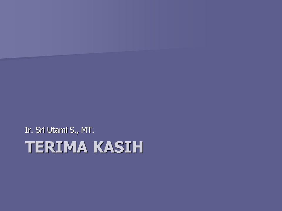 TERIMA KASIH Ir. Sri Utami S., MT.