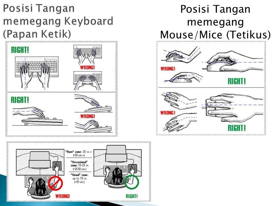 Posisi Tangan memegang Mouse/Mice (Tetikus)