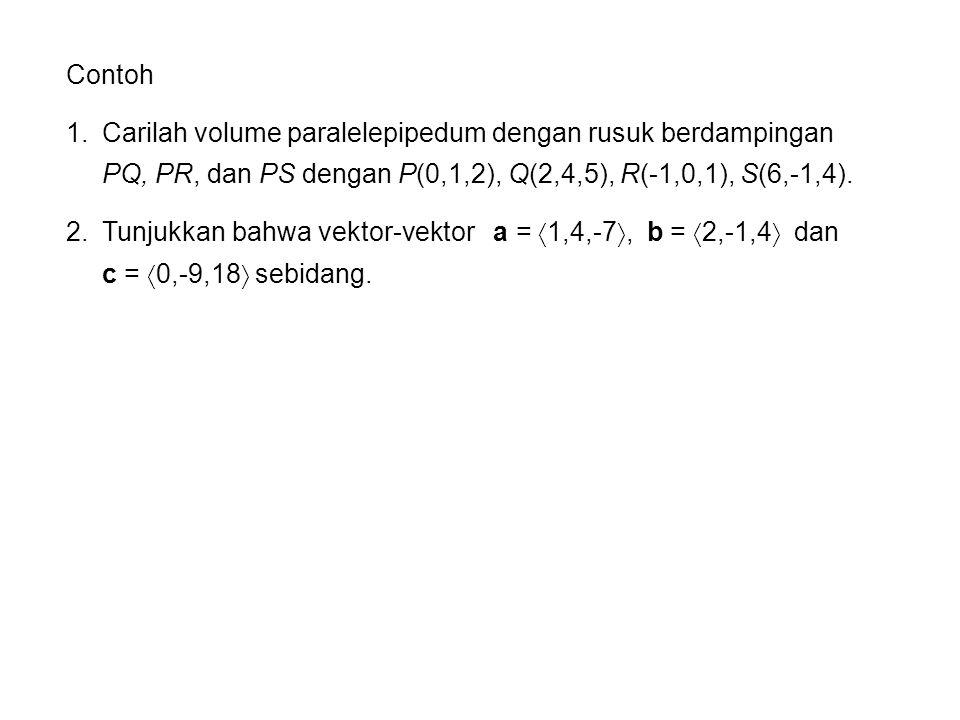 Penerapan dalam Fisika Torsi  (relatif terhadap titik asal) adalah hasilkali vektor posisi dan vektor gaya Gaya F yang bekerja pada sebuah benda pejal di titik yang diberikan oleh vektor posisi r.