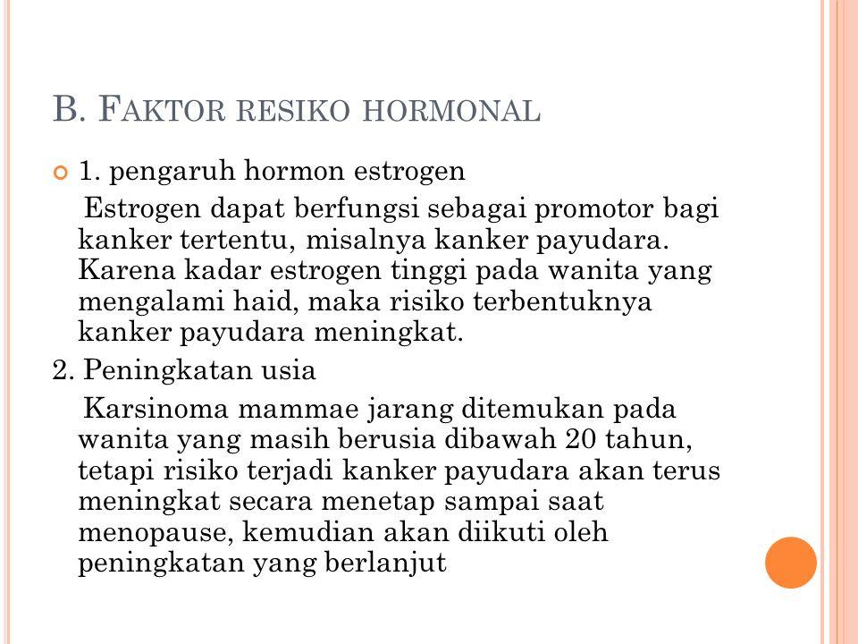 B. F AKTOR RESIKO HORMONAL 1.