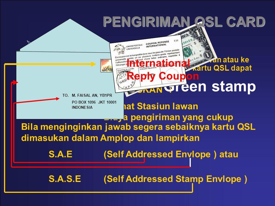 DIRECT Pengiriman secara langsung ke Alamat Stasiun lawan atau ke Alamat yang ditentukan dengan maksud agar kartu QSL dapat diterima / dibalas dengan