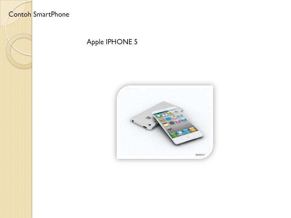 Apple IPHONE 5 Contoh SmartPhone