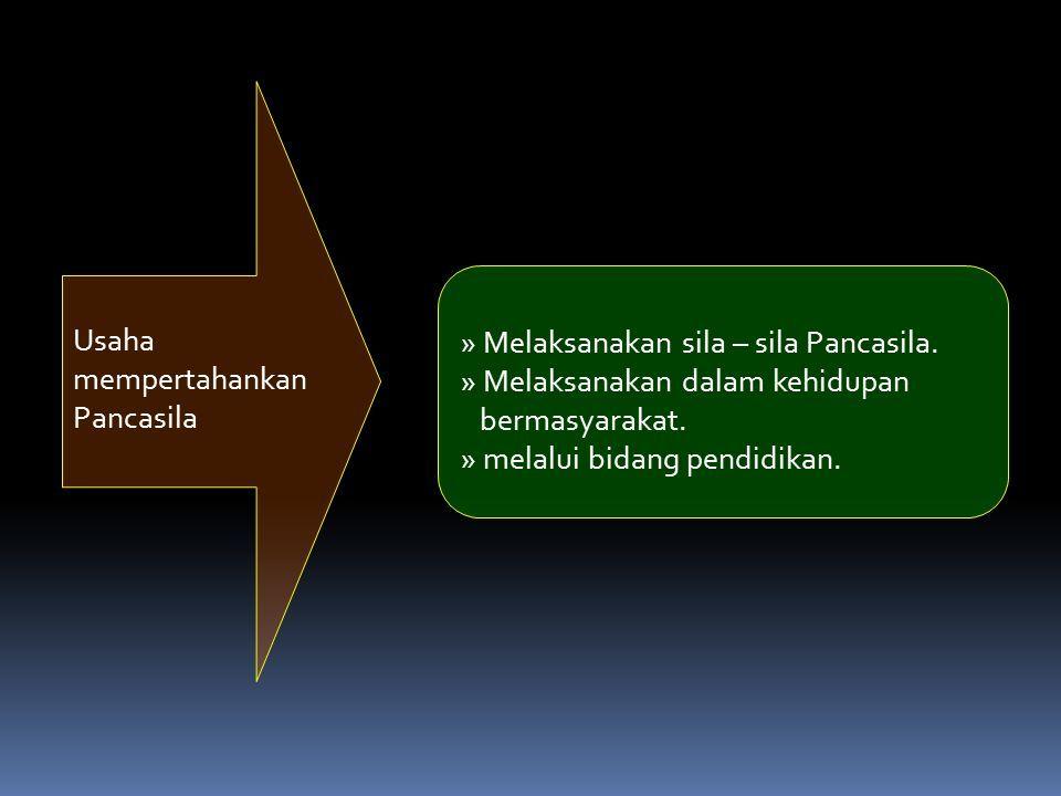 Usaha mempertahankan Pancasila » Melaksanakan sila – sila Pancasila.