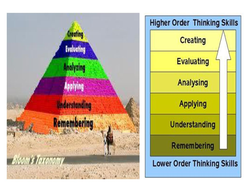 higher order thinking skills Higher-order thinking skills the primary definition of higher-order thinking used to focus the make an impact @ sfa project comes from thomas and thorne (2008).