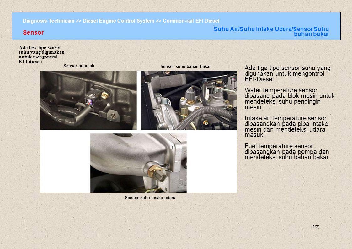 Diagnosis Technician >> Diesel Engine Control System >> Common-rail EFI Diesel Sensor suhu air Sensor suhu bahan bakar Sensor suhu intake udara Ada ti