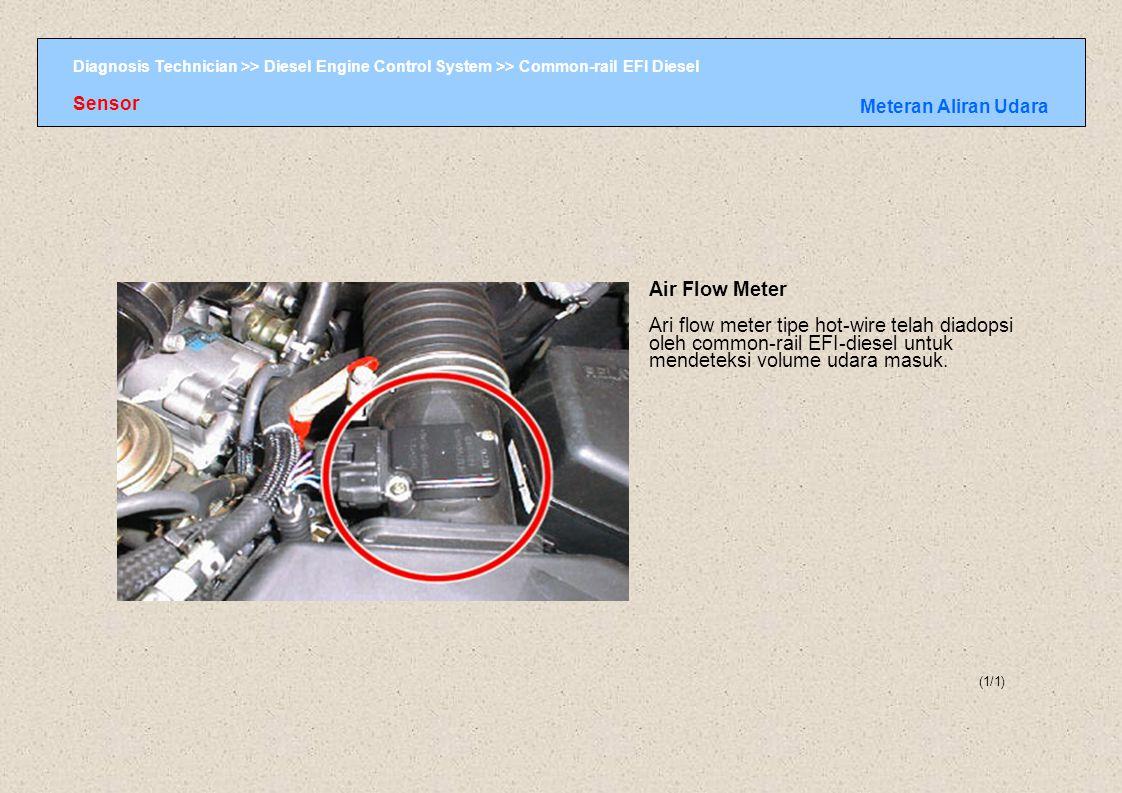Diagnosis Technician >> Diesel Engine Control System >> Common-rail EFI Diesel (1/1) Sensor Meteran Aliran Udara Air Flow Meter Ari flow meter tipe ho