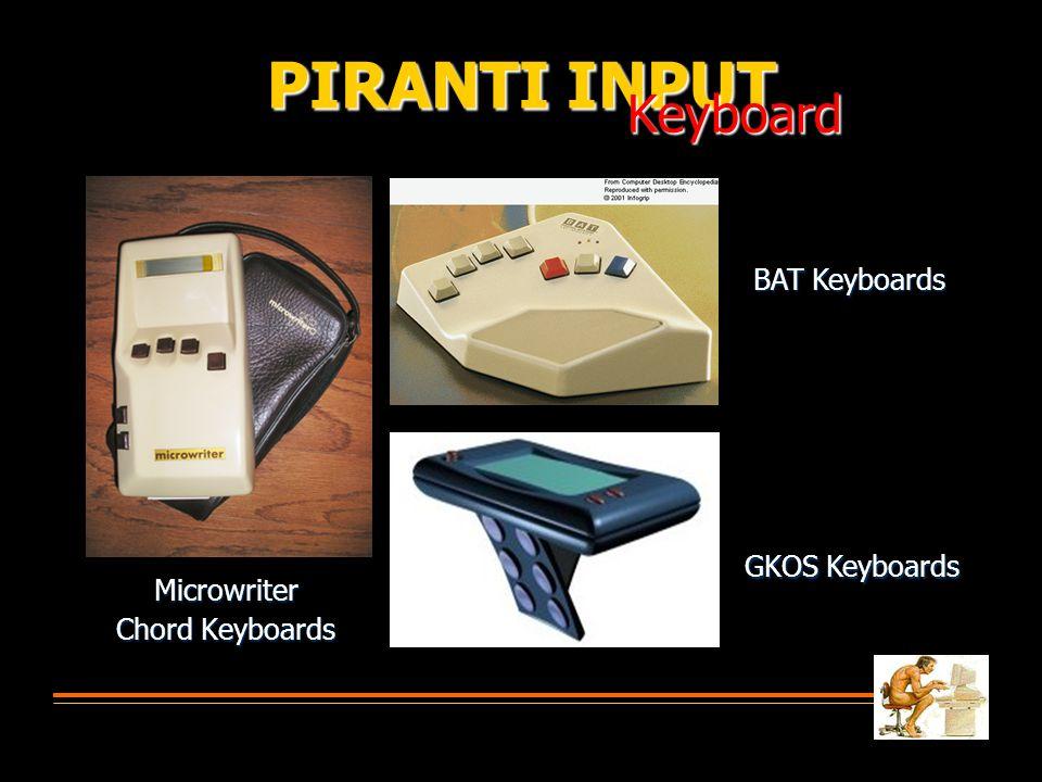 Microwriter Chord Keyboards PIRANTI INPUT Keyboard GKOS Keyboards BAT Keyboards