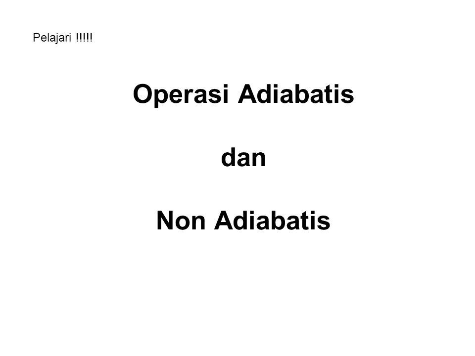 Operasi Adiabatis dan Non Adiabatis Pelajari !!!!!