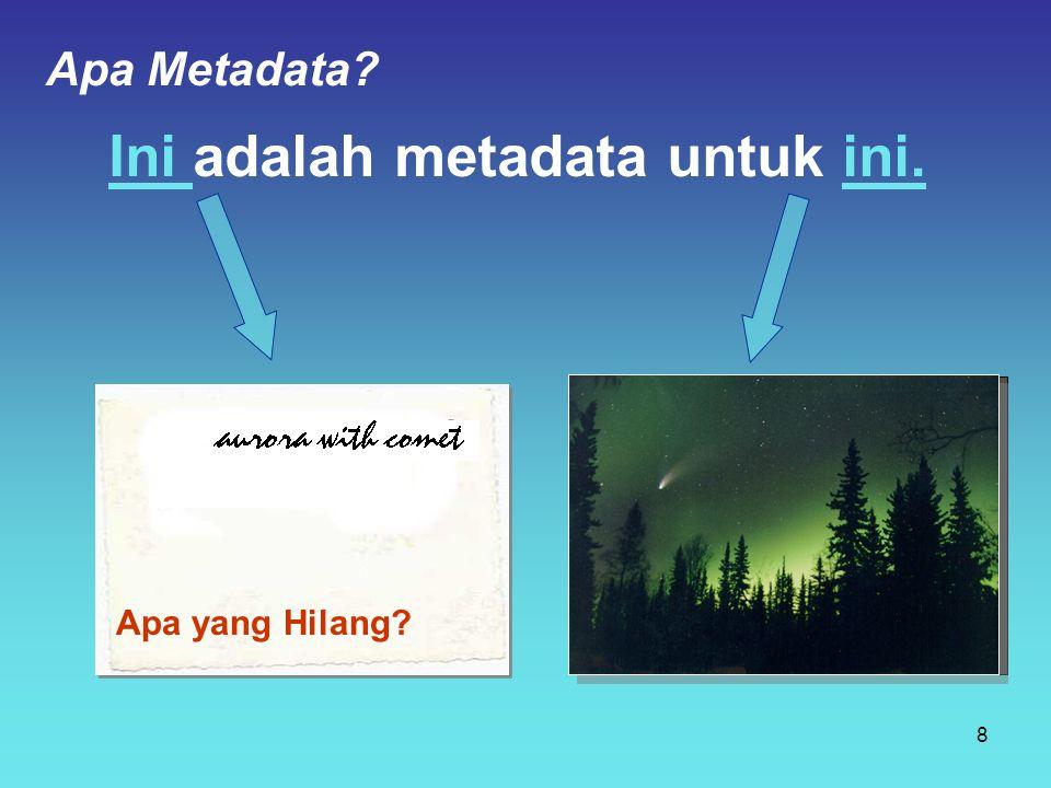 Ini adalah metadata untuk ini. Apa yang Hilang? Apa Metadata? 8