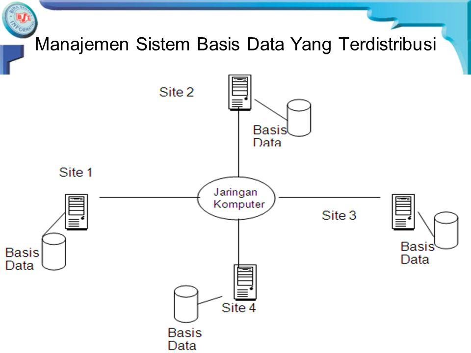 •Pengguna mengakses basis data terdistribusi dengan menggunakan dua aplikasi yaitu aplikasi lokal dan aplikasi global, sehingga DDBMS memiliki karakte