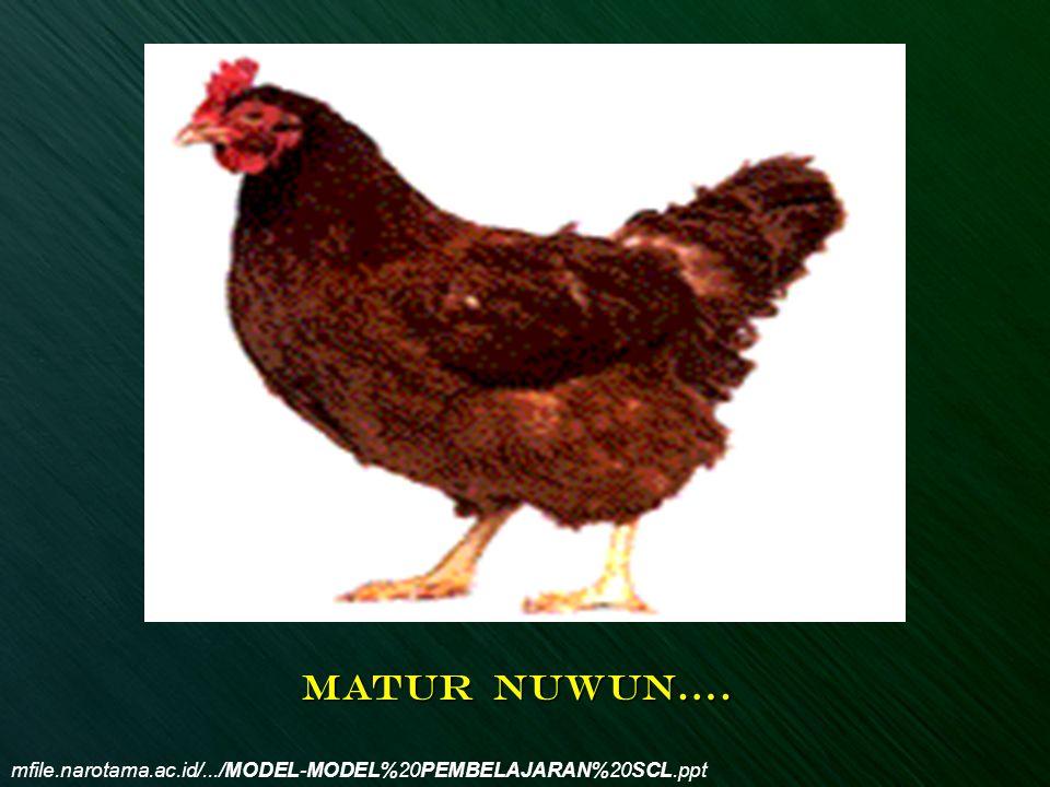 MATUR NUWUN…. mfile.narotama.ac.id/.../MODEL-MODEL%20PEMBELAJARAN%20SCL.ppt