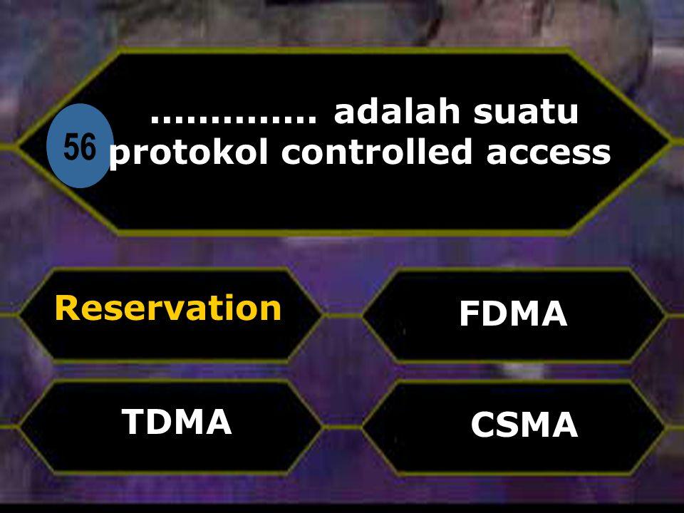 Di 56.............. adalah suatu protokol controlled access Reservation CSMA FDMA TDMA