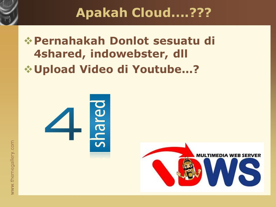 www.themegallery.com Apakah Cloud.... .